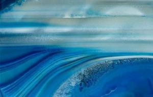 Sea of Surreality, Agate, 40x26in by George Fellner
