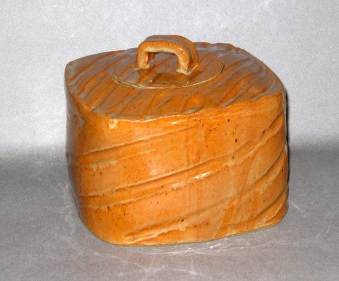 Hand-built stoneware box