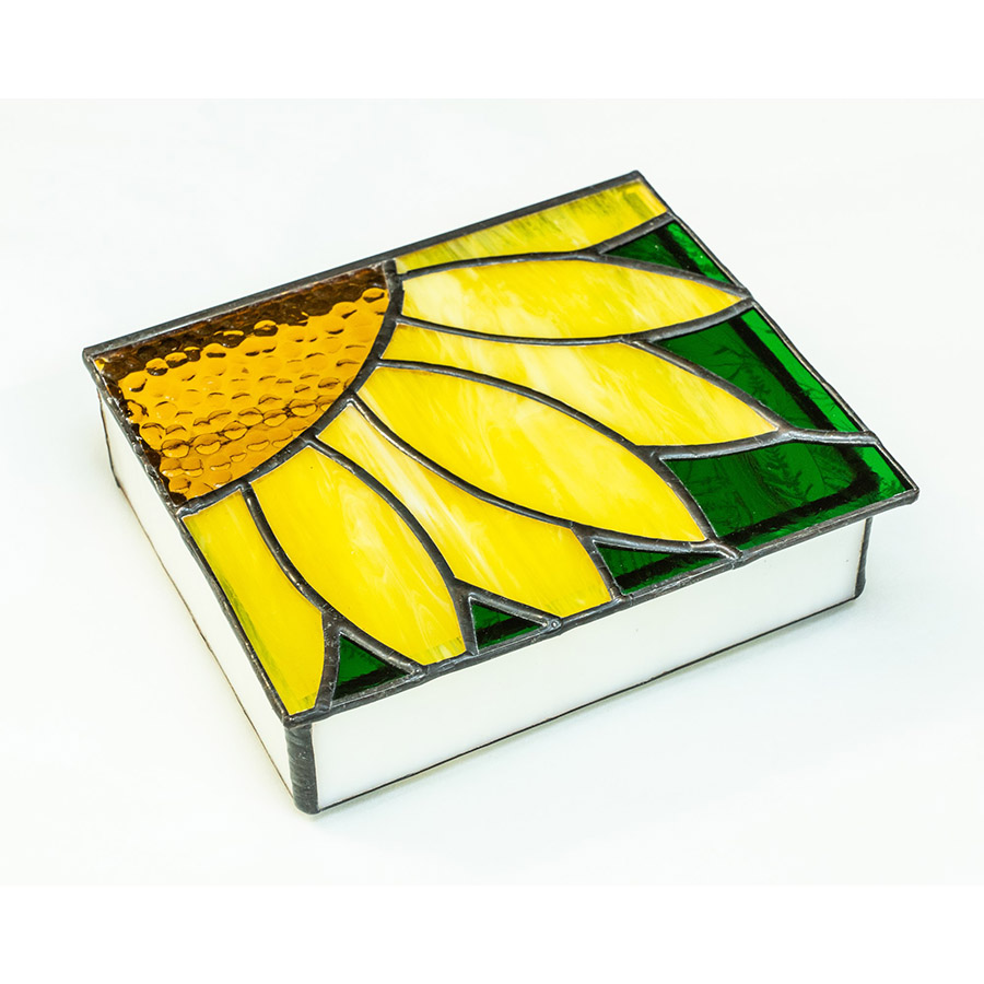 Sunflower Stained Glass Box | Spectrum Gallery